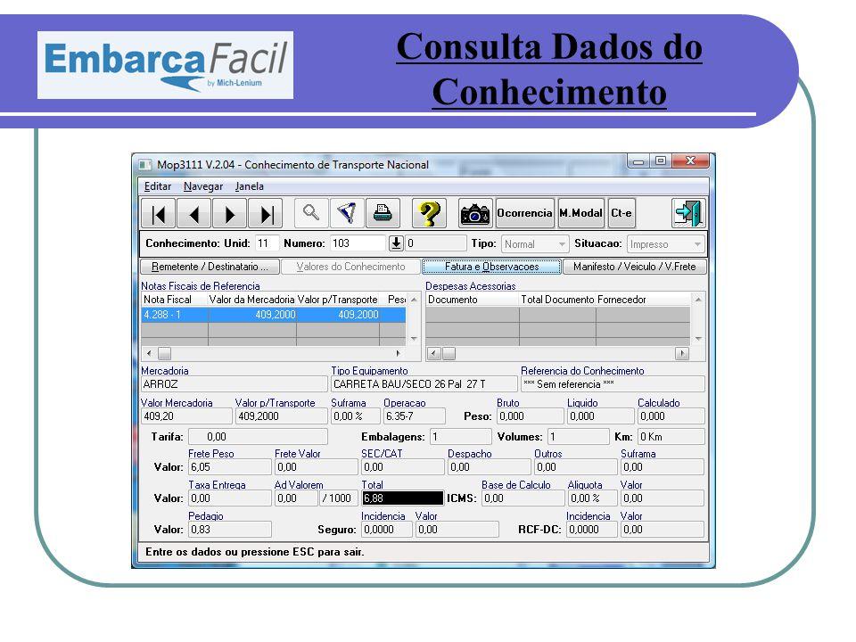 Consulta Dados do Conhecimento