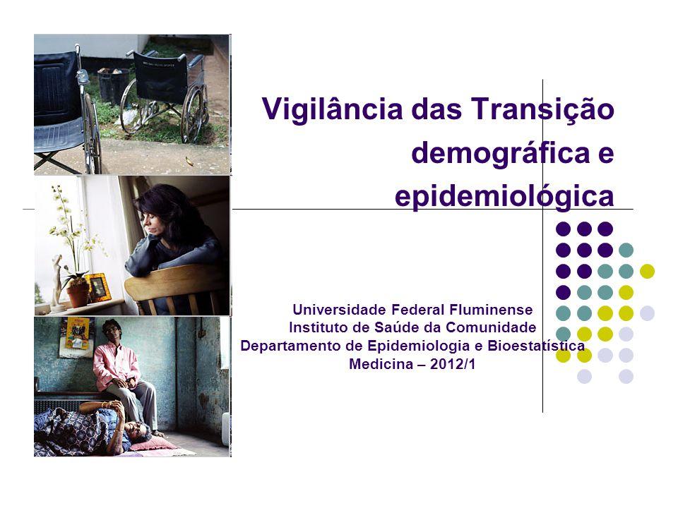 Vigilância das Transição demográfica e epidemiológica FUNASA Universidade Federal Fluminense Instituto de Saúde da Comunidade Departamento de Epidemio