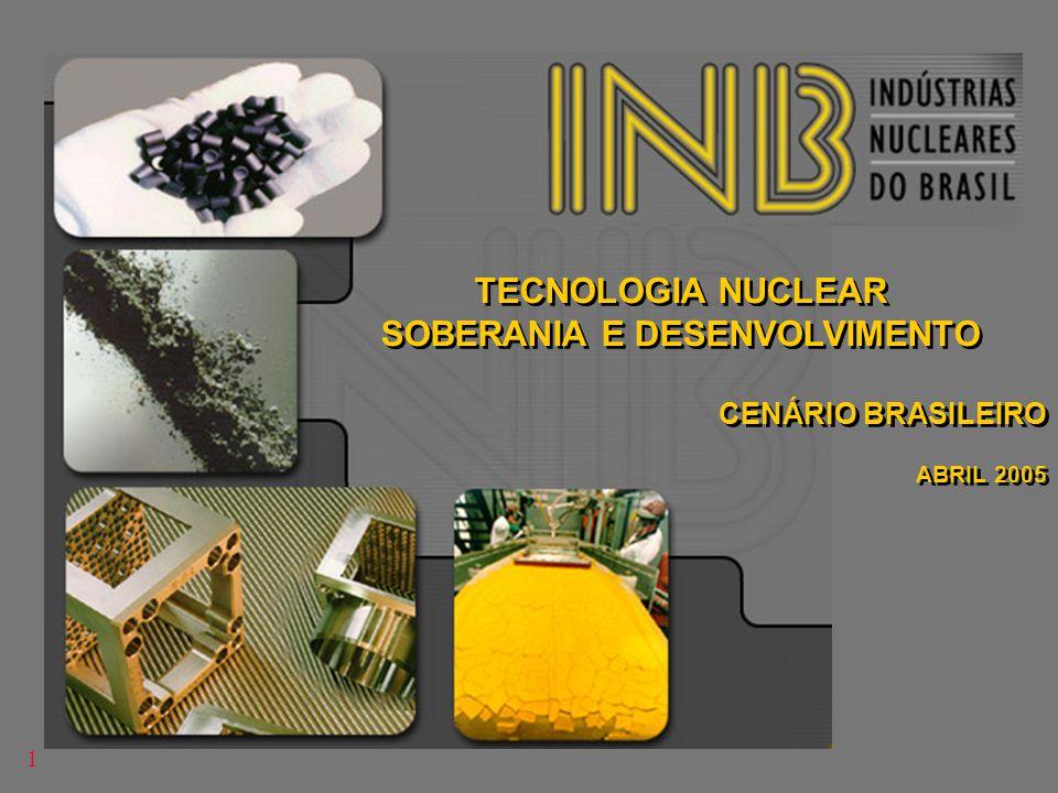 TECNOLOGIA NUCLEAR SOBERANIA E DESENVOLVIMENTO CENÁRIO BRASILEIRO ABRIL 2005 TECNOLOGIA NUCLEAR SOBERANIA E DESENVOLVIMENTO CENÁRIO BRASILEIRO ABRIL 2