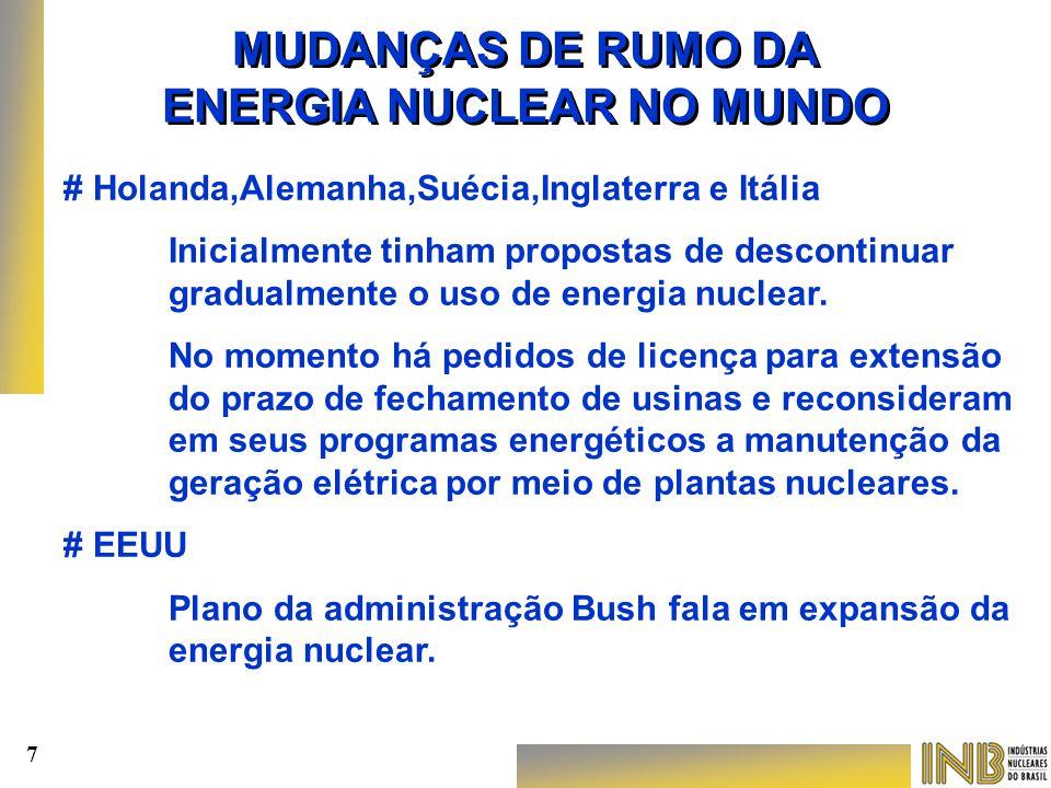 > > Enriquecimento de urânio em escala industrial.