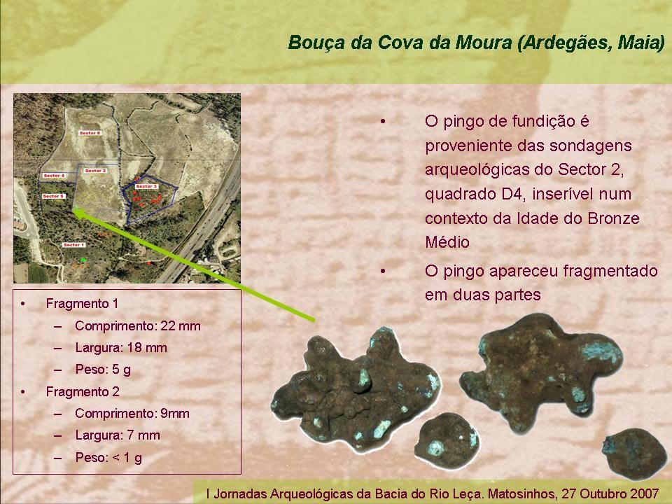 I Jornadas Arqueológicas da Bacia do Rio Leça. Matosinhos, 27 Outubro 2007
