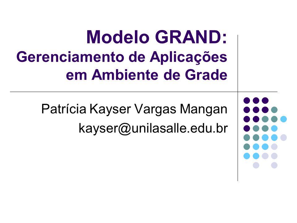 Modelo GRAND: Gerenciamento de Aplicações em Ambiente de Grade Patrícia Kayser Vargas Mangan kayser@unilasalle.edu.br