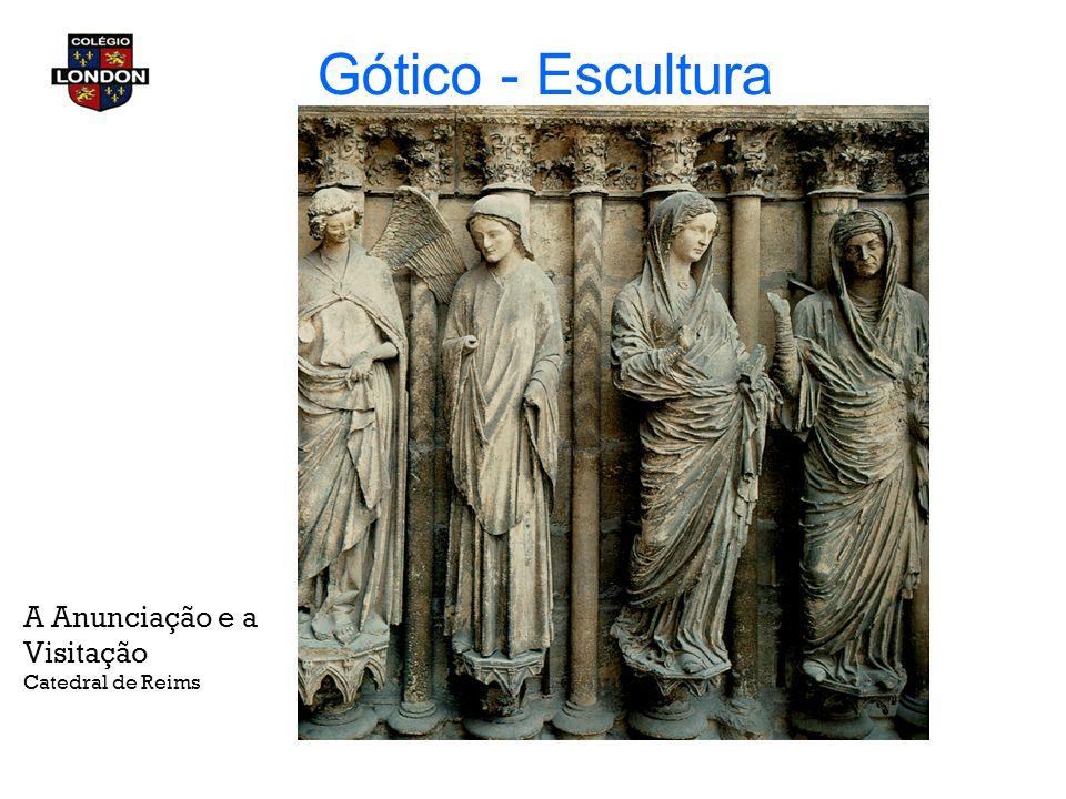 Gótico - Escultura A Anunciação e a Visitação Catedral de Reims