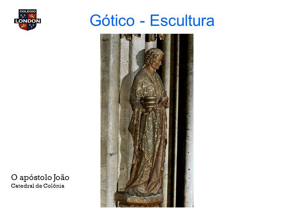 Gótico - Escultura O apóstolo João Catedral de Colônia