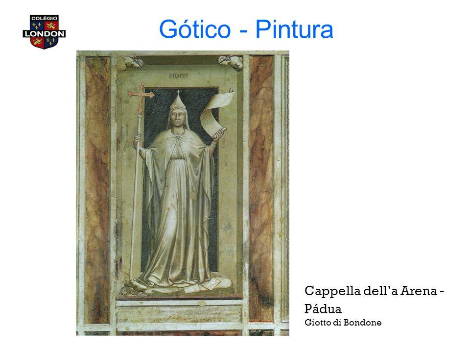 Gótico - Pintura Cappella dell'a Arena - Pádua Giotto di Bondone