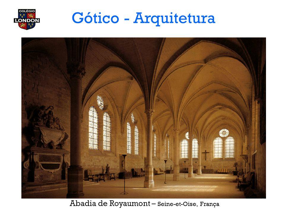 Gótico - Arquitetura Abadia de Royaumont – Seine-et-Oise, França