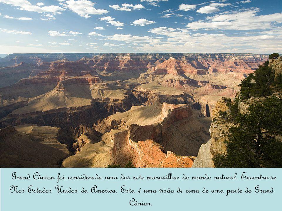 Grand Cânion foi considerada uma das sete maravilhas do mundo natural. Encontra-se Nos Estados Unidos da America. Esta é uma visão de cima de uma part