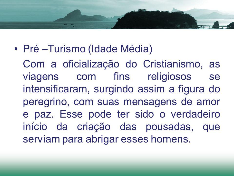 Com a oficialização do Cristianismo, as viagens com fins religiosos se intensificaram, surgindo assim a figura do peregrino, com suas mensagens de amo