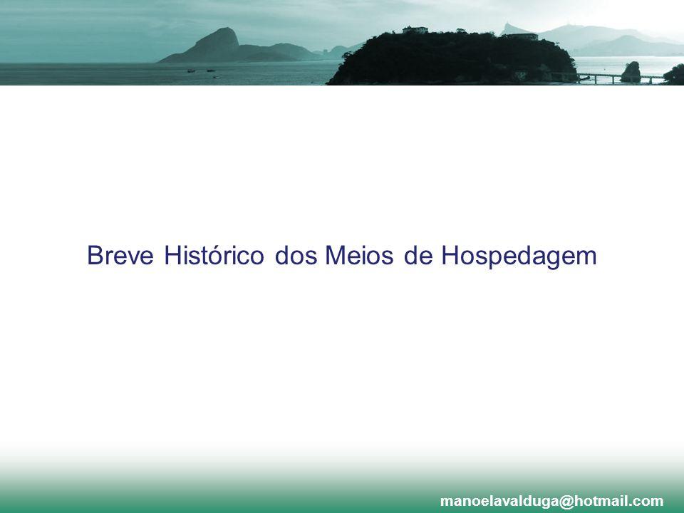 Breve Histórico dos Meios de Hospedagem manoelavalduga@hotmail.com
