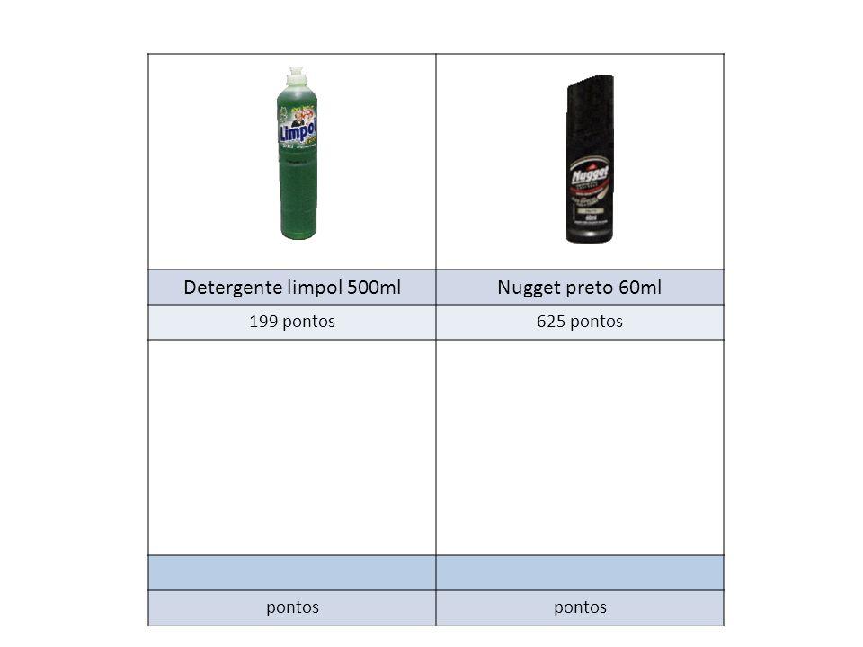 Detergente limpol 500mlNugget preto 60ml 199 pontos625 pontos pontos