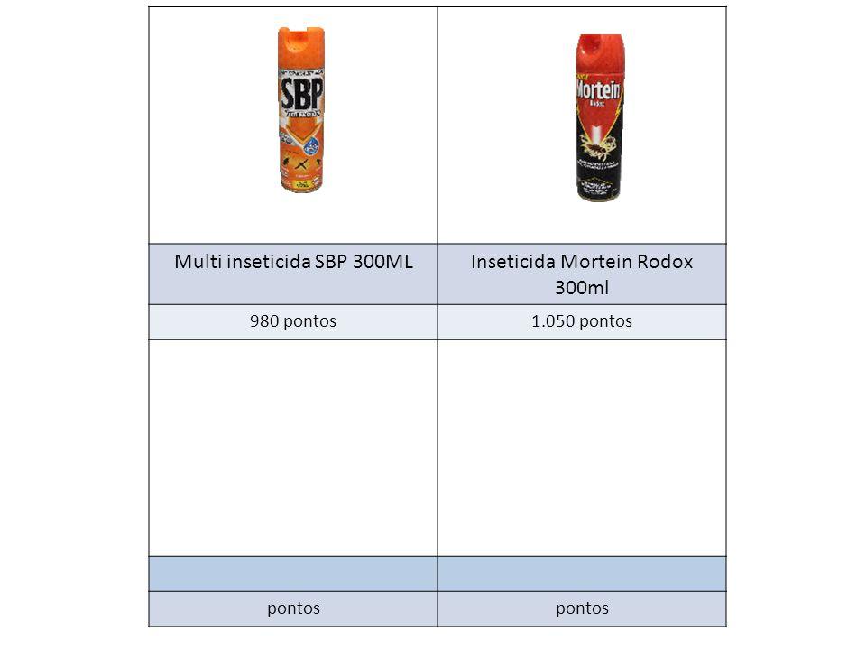 Multi inseticida SBP 300MLInseticida Mortein Rodox 300ml 980 pontos1.050 pontos pontos