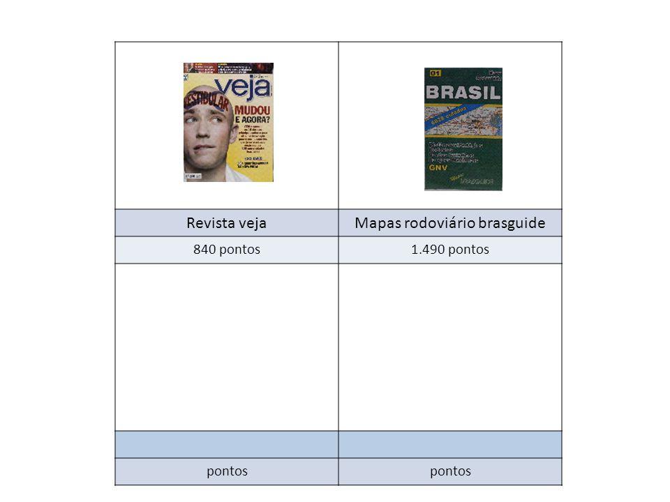 Revista vejaMapas rodoviário brasguide 840 pontos1.490 pontos pontos