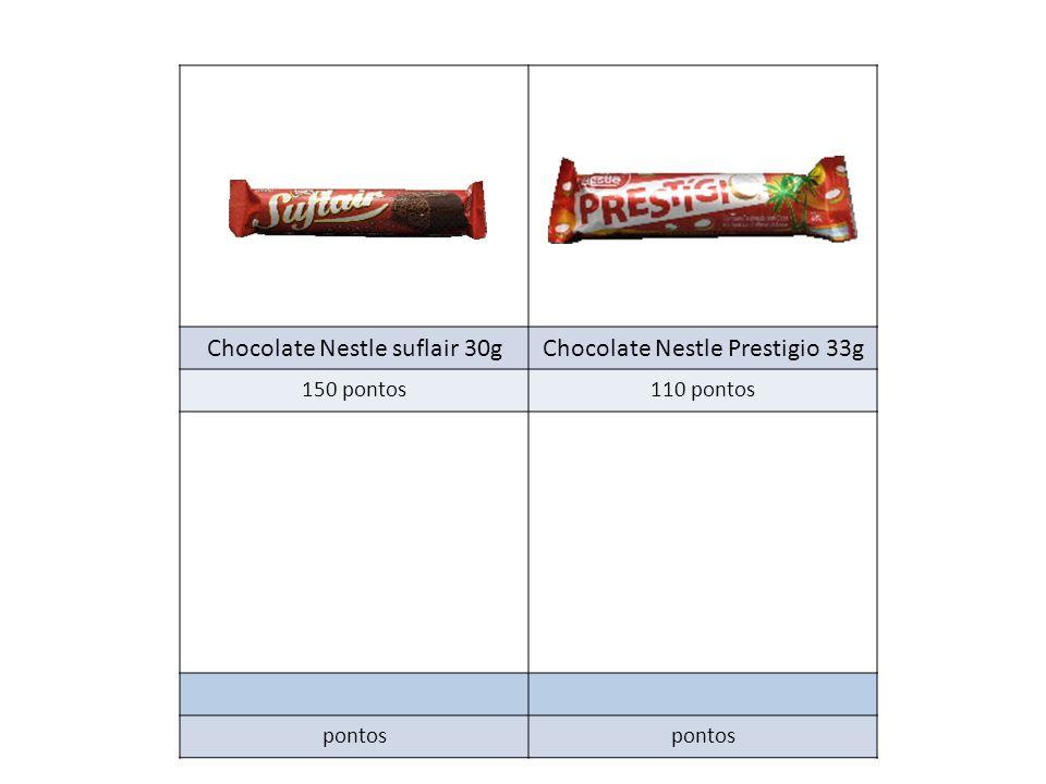 Chocolate Nestle suflair 30gChocolate Nestle Prestigio 33g 150 pontos110 pontos pontos
