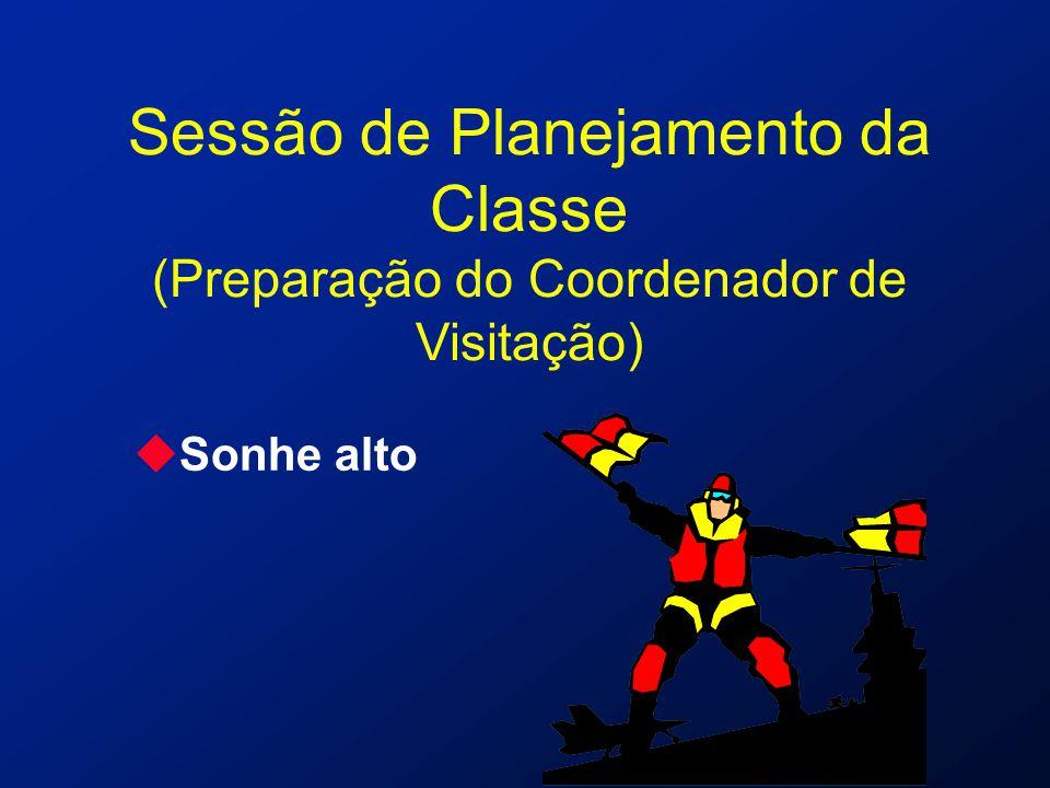 Sessão de Planejamento da Classe (Preparação do Coordenador de Visitação) uSonhe alto