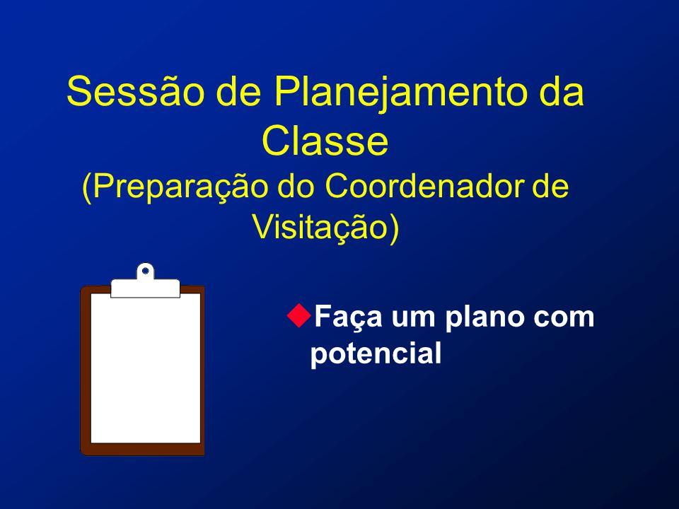 Sessão de Planejamento da Classe (Preparação do Coordenador de Visitação) uFaça um plano com potencial