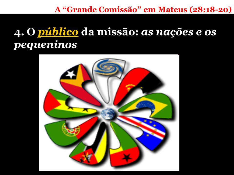 A Grande Comissão em Mateus (28:18-20) 4. O público da missão: as nações e os pequeninos