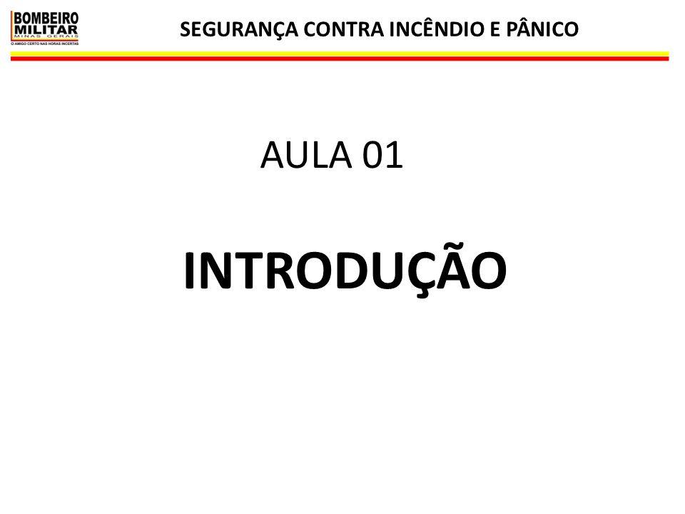SEGURANÇA CONTRA INCÊNDIO E PÂNICO 1 INTRODUÇÃO AULA 01