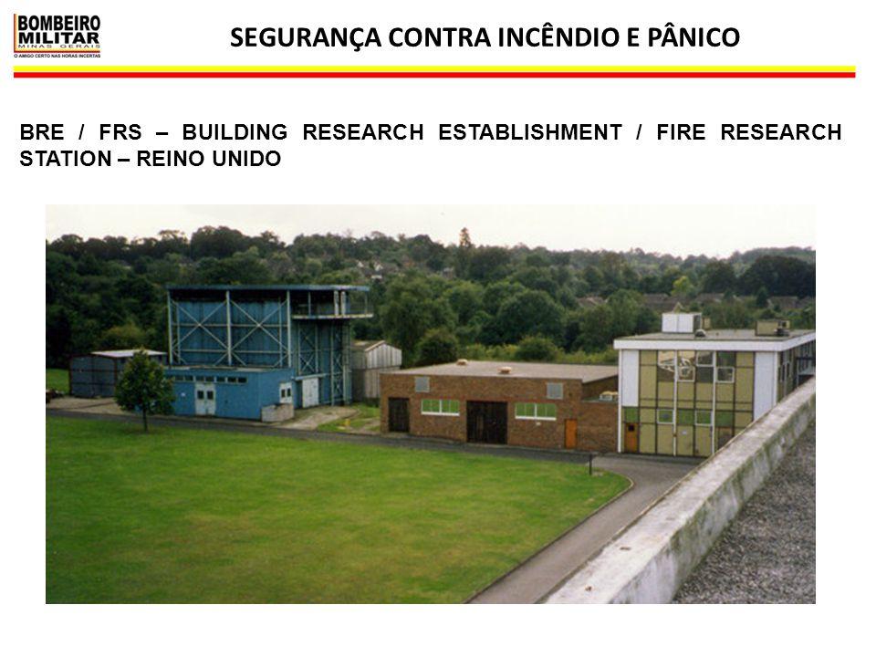 SEGURANÇA CONTRA INCÊNDIO E PÂNICO 11 BRE / FRS – BUILDING RESEARCH ESTABLISHMENT / FIRE RESEARCH STATION – REINO UNIDO