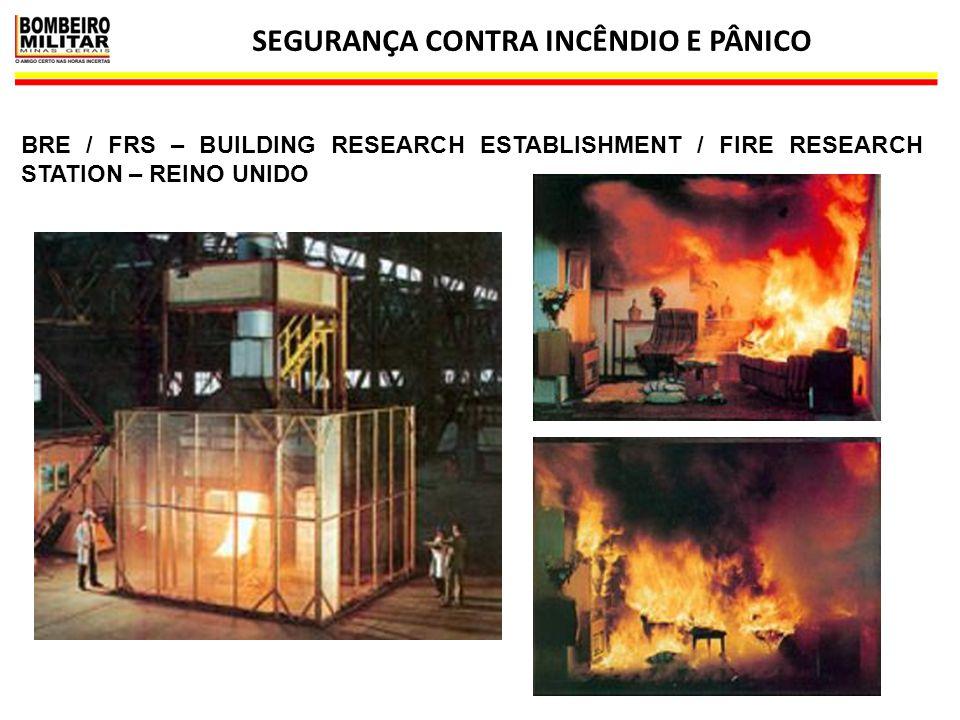 SEGURANÇA CONTRA INCÊNDIO E PÂNICO 12 BRE / FRS – BUILDING RESEARCH ESTABLISHMENT / FIRE RESEARCH STATION – REINO UNIDO