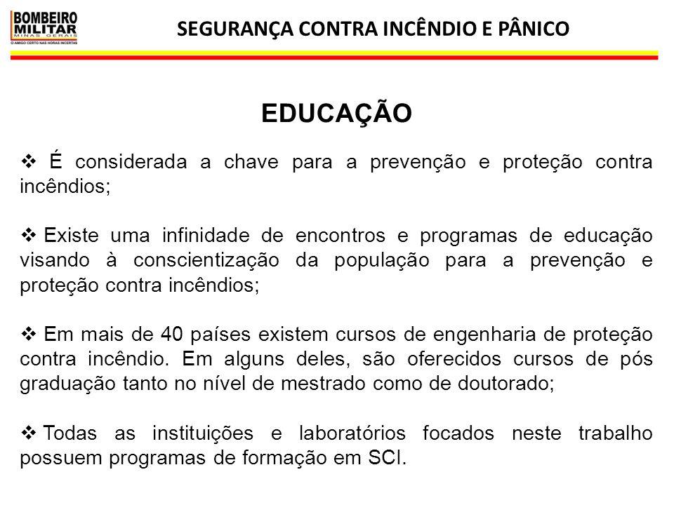 SEGURANÇA CONTRA INCÊNDIO E PÂNICO 18 EDUCAÇÃO  É considerada a chave para a prevenção e proteção contra incêndios;  Existe uma infinidade de encont