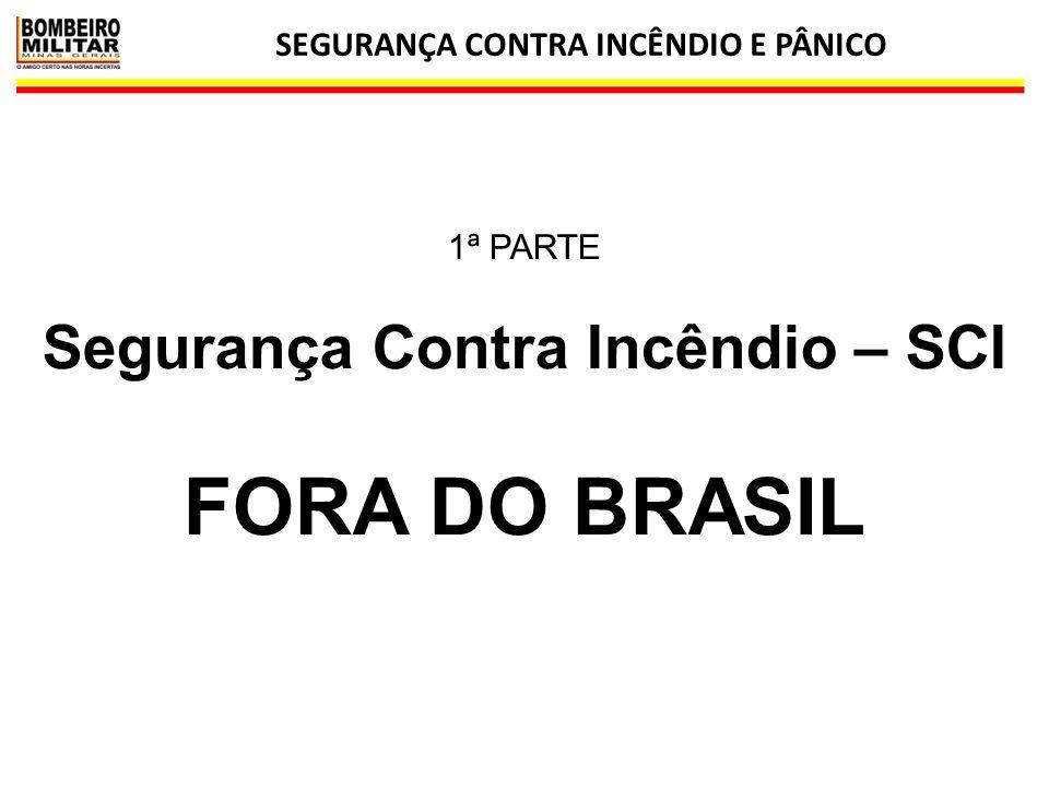 SEGURANÇA CONTRA INCÊNDIO E PÂNICO 2 1ª PARTE Segurança Contra Incêndio – SCI FORA DO BRASIL
