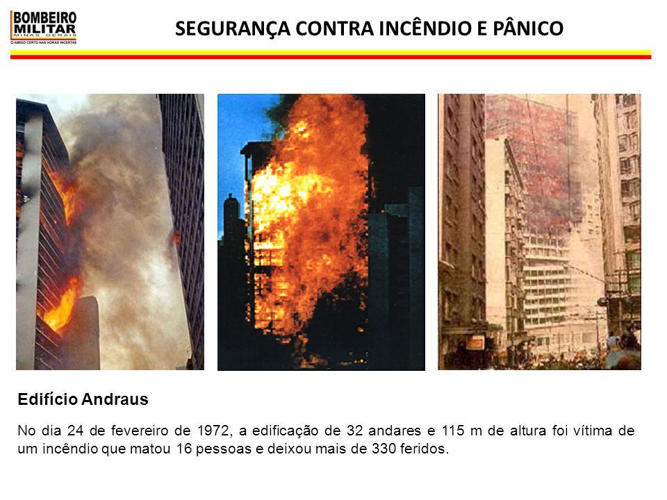 SEGURANÇA CONTRA INCÊNDIO E PÂNICO 21 Edifício Andraus No dia 24 de fevereiro de 1972, a edificação de 32 andares e 115 m de altura foi vítima de um i