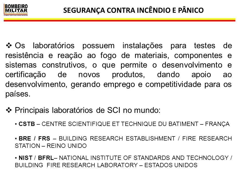 SEGURANÇA CONTRA INCÊNDIO E PÂNICO 5  Os laboratórios possuem instalações para testes de resistência e reação ao fogo de materiais, componentes e sis