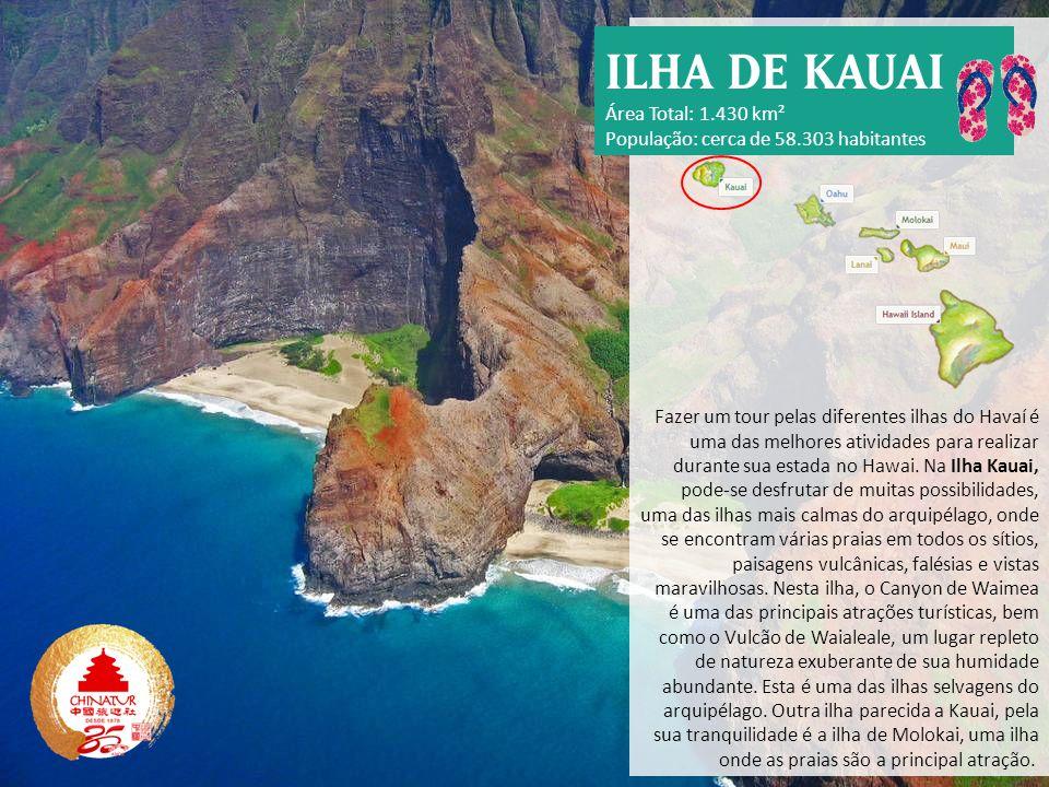 Fazer um tour pelas diferentes ilhas do Havaí é uma das melhores atividades para realizar durante sua estada no Hawai. Na Ilha Kauai, pode-se desfruta