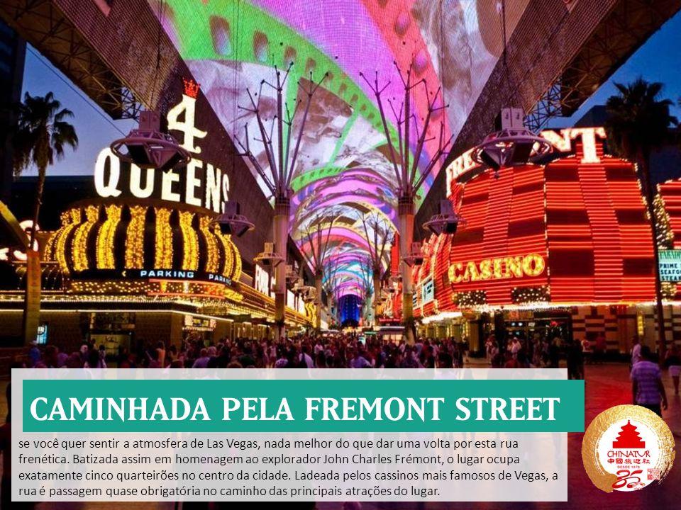 se você quer sentir a atmosfera de Las Vegas, nada melhor do que dar uma volta por esta rua frenética.