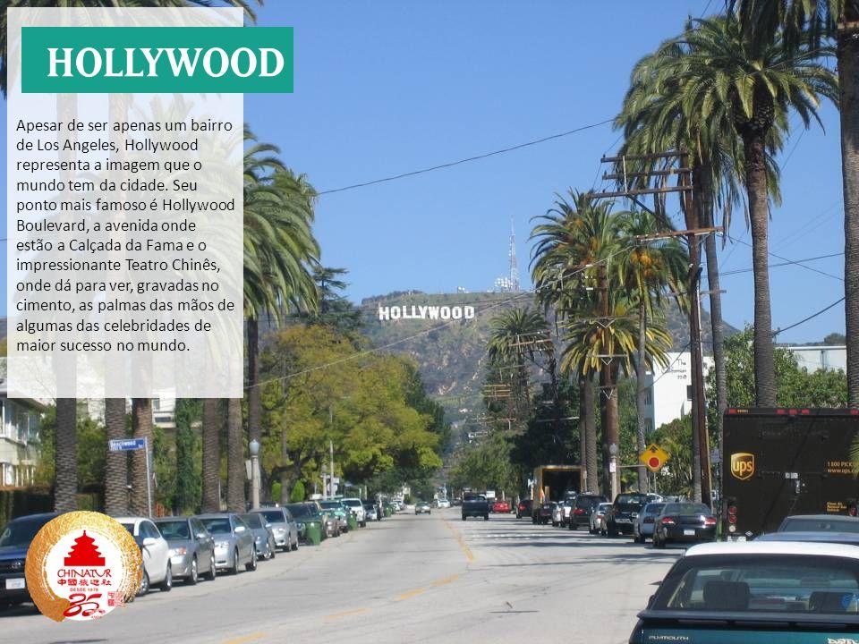 Apesar de ser apenas um bairro de Los Angeles, Hollywood representa a imagem que o mundo tem da cidade. Seu ponto mais famoso é Hollywood Boulevard, a