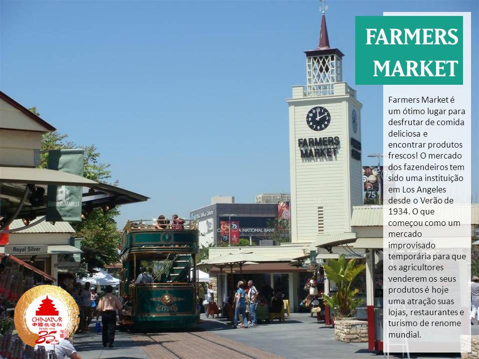 Farmers Market é um ótimo lugar para desfrutar de comida deliciosa e encontrar produtos frescos.