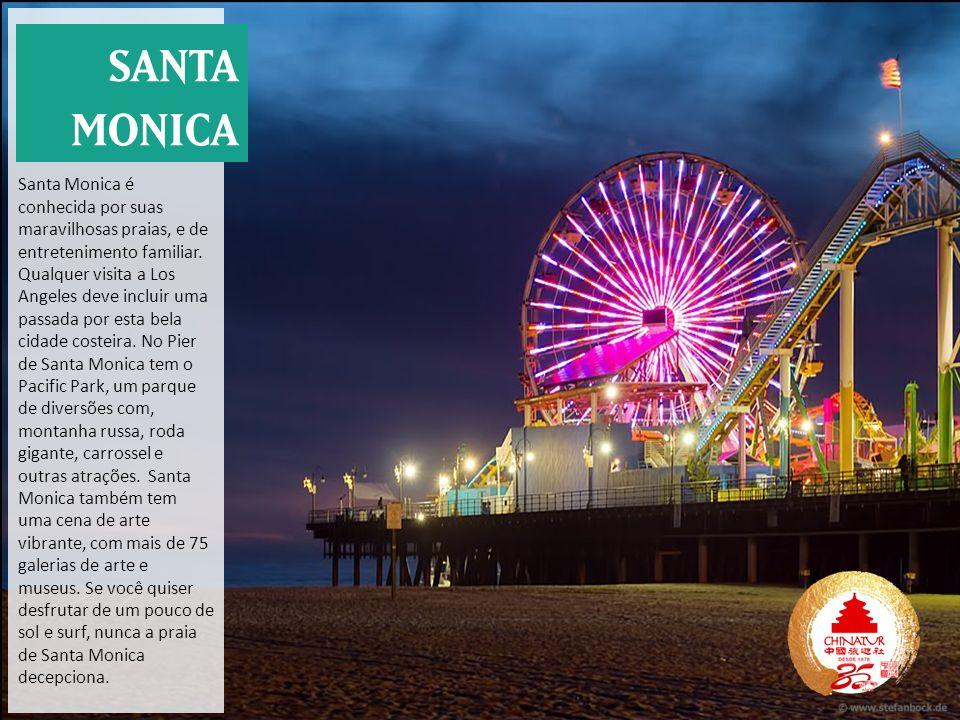 Santa Monica é conhecida por suas maravilhosas praias, e de entretenimento familiar. Qualquer visita a Los Angeles deve incluir uma passada por esta b