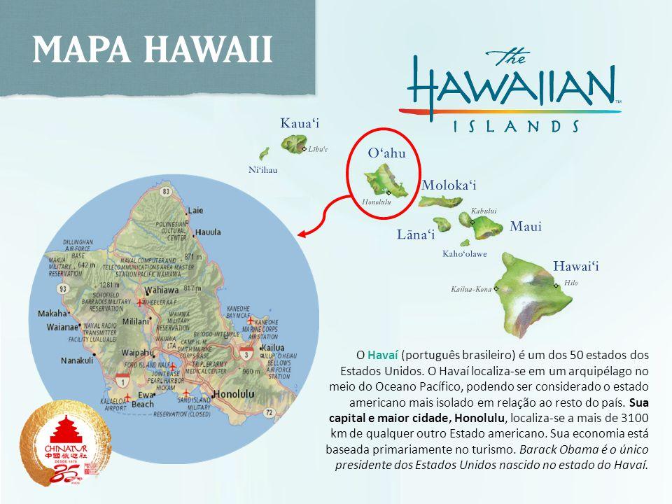O Havaí (português brasileiro) é um dos 50 estados dos Estados Unidos. O Havaí localiza-se em um arquipélago no meio do Oceano Pacífico, podendo ser c