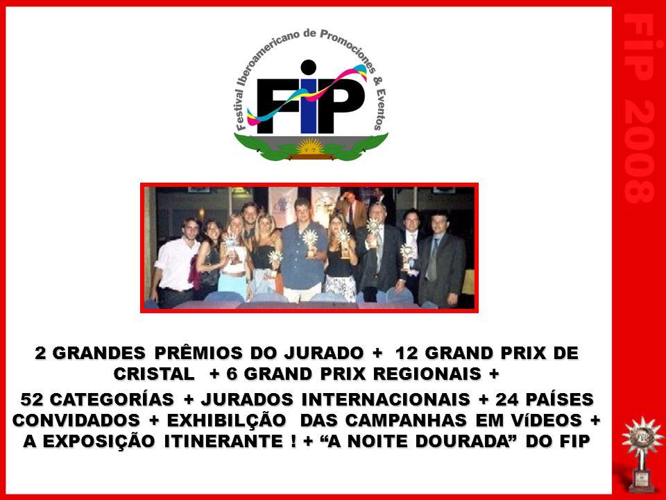 2 GRANDES PRÊMIOS DO JURADO + 12 GRAND PRIX DE CRISTAL + 6 GRAND PRIX REGIONAIS + 52 CATEGORÍAS + JURADOS INTERNACIONAIS + 24 PAÍSES CONVIDADOS + EXHI