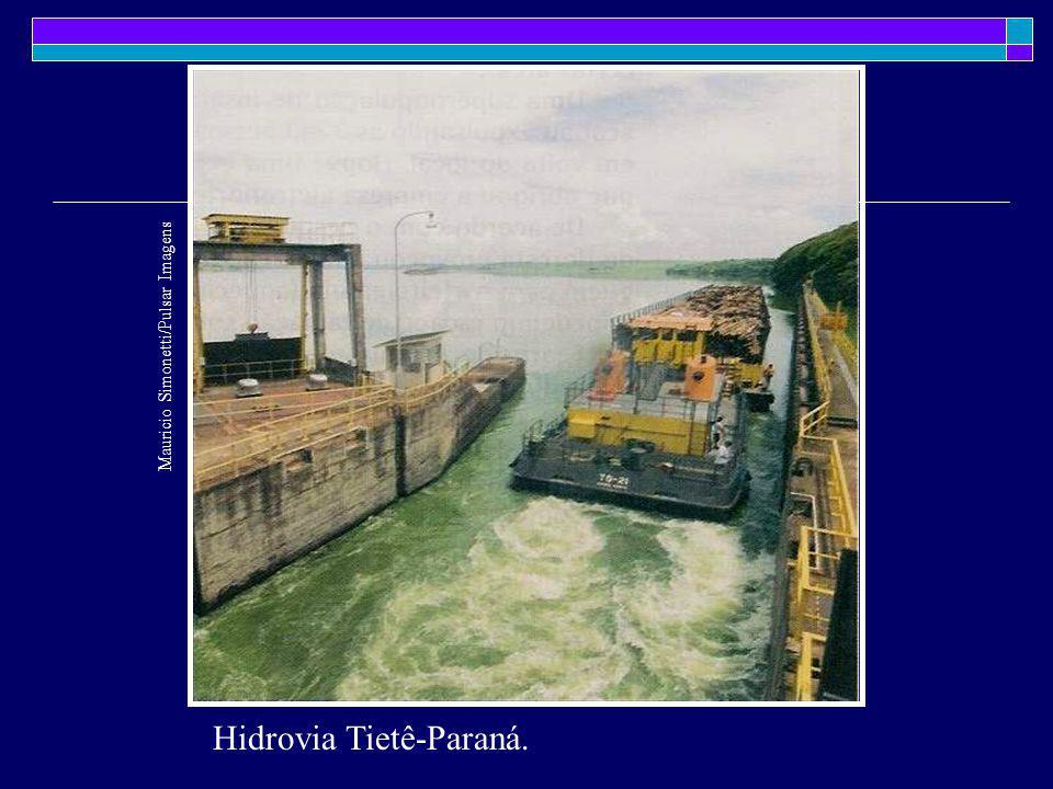 Hidrovia Tietê-Paraná. Mauricio Simonetti/Pulsar Imagens