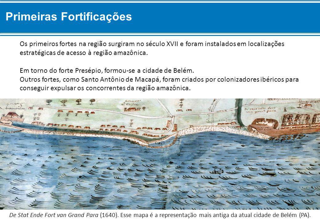 Os primeiros fortes na região surgiram no século XVII e foram instalados em localizações estratégicas de acesso à região amazônica.
