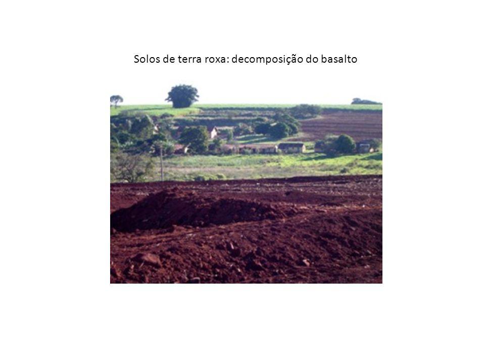 Solos de terra roxa: decomposição do basalto