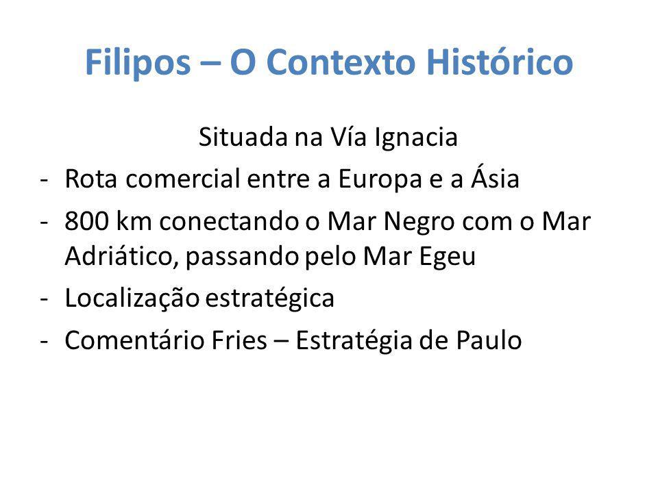 Filipos – O Contexto Histórico Situada na Vía Ignacia -Rota comercial entre a Europa e a Ásia -800 km conectando o Mar Negro com o Mar Adriático, pass