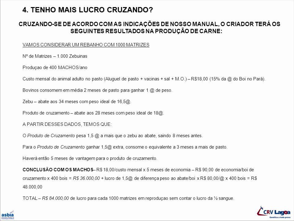 OUTRO EXEMPLO DE CRUZAMENTO TERMINAL COM 2 RAÇAS X LIMOUSIN PRODUTOS ½ LIMOUSIN ½ NELORE COM 24 MESES, PESANDO 18,5 @ E 56% DE RENDIMENTO DE CARCAÇA Nankim