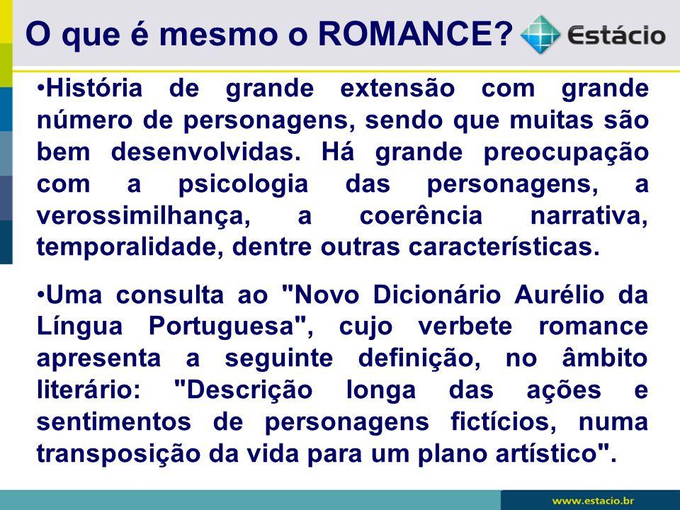 Os personagens do conto O ROMANCE:
