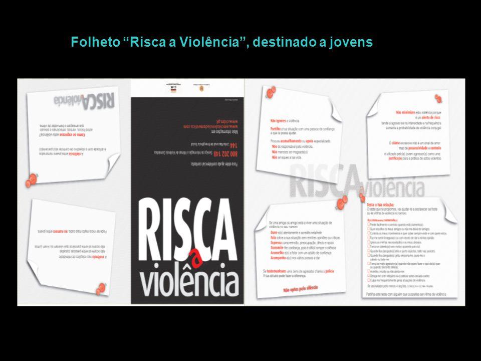 """Folheto """"Risca a Violência"""", destinado a jovens"""
