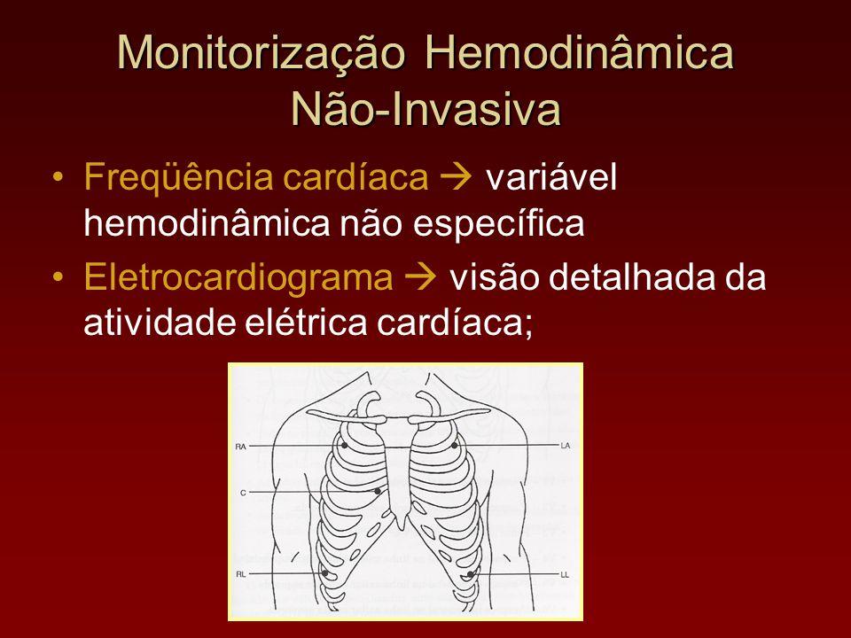 Monitorização Hemodinâmica Não-Invasiva Freqüência cardíaca  variável hemodinâmica não específica Eletrocardiograma  visão detalhada da atividade el