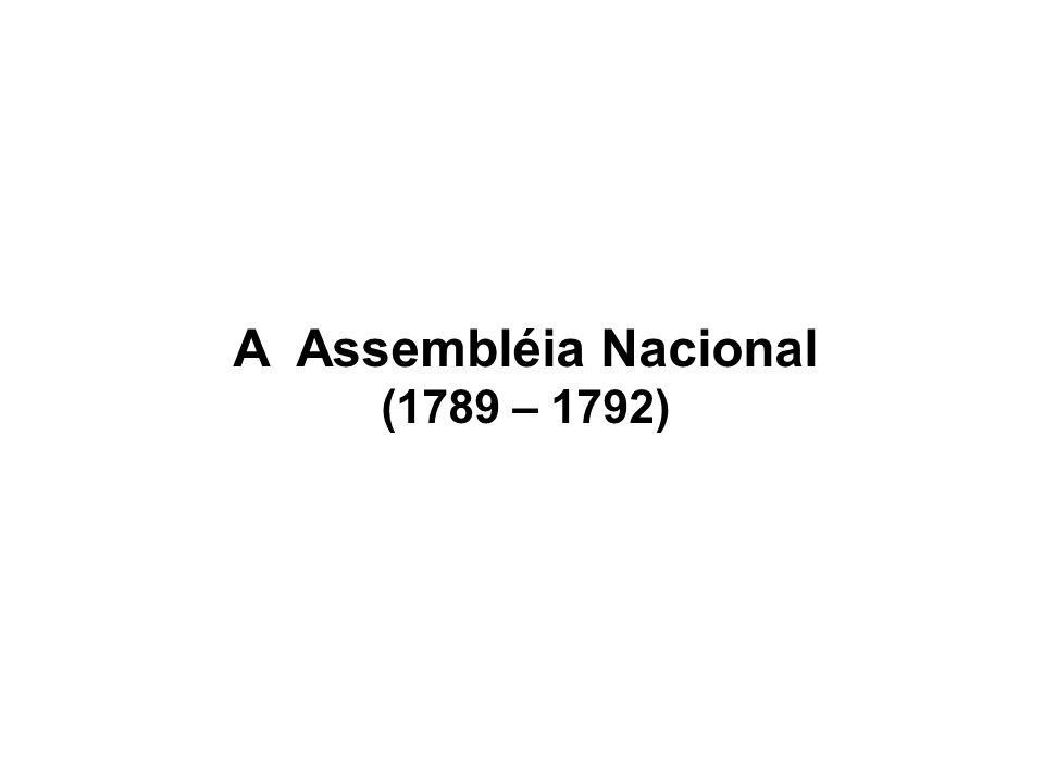 A Assembléia Nacional (1789 – 1792)