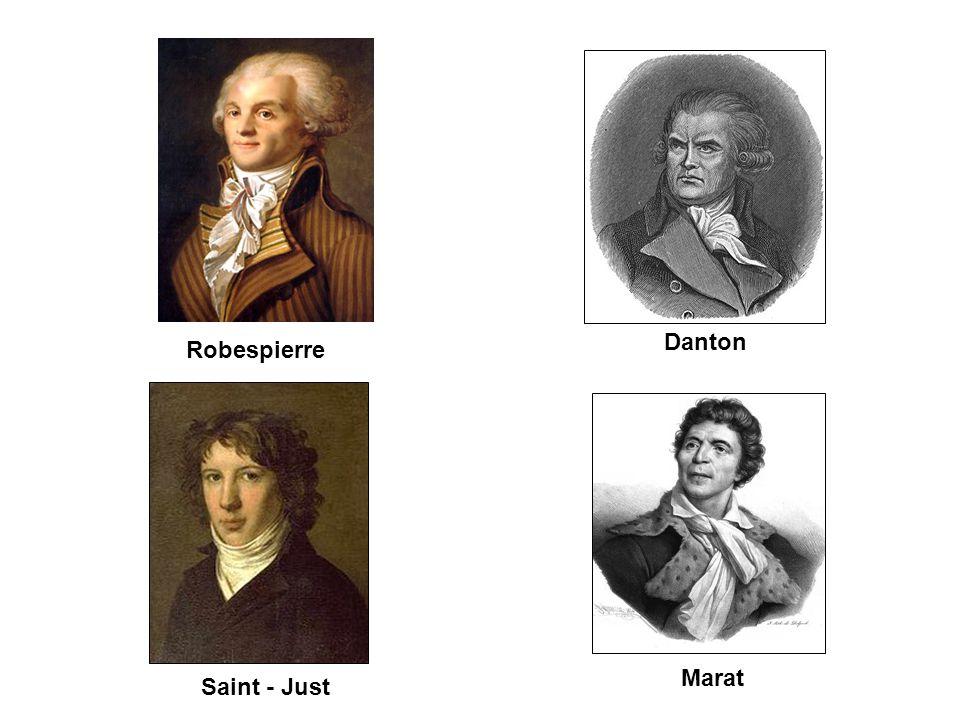 Marat Saint - Just Robespierre Danton