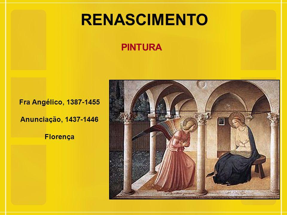RENASCIMENTO PINTURA Fra Angélico, 1387-1455 Anunciação, 1437-1446 Florença