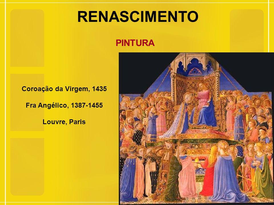 RENASCIMENTO PINTURA Coroação da Virgem, 1435 Fra Angélico, 1387-1455 Louvre, Paris