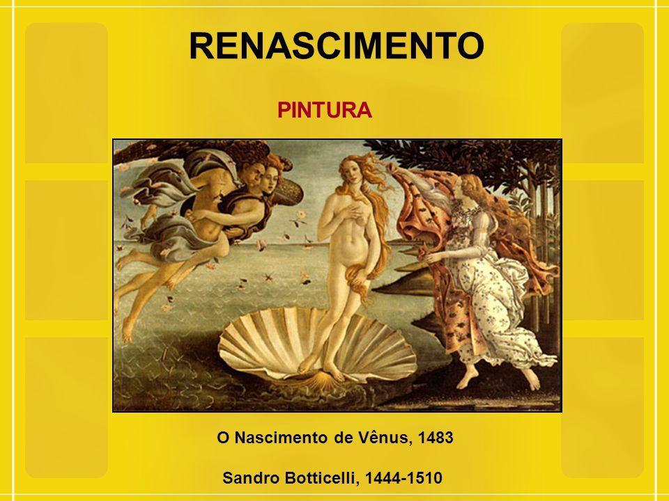 RENASCIMENTO PINTURA O Nascimento de Vênus, 1483 Sandro Botticelli, 1444-1510
