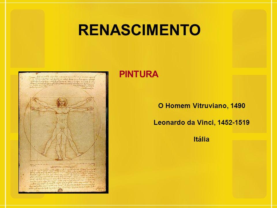 RENASCIMENTO PINTURA O Homem Vitruviano, 1490 Leonardo da Vinci, 1452-1519 Itália