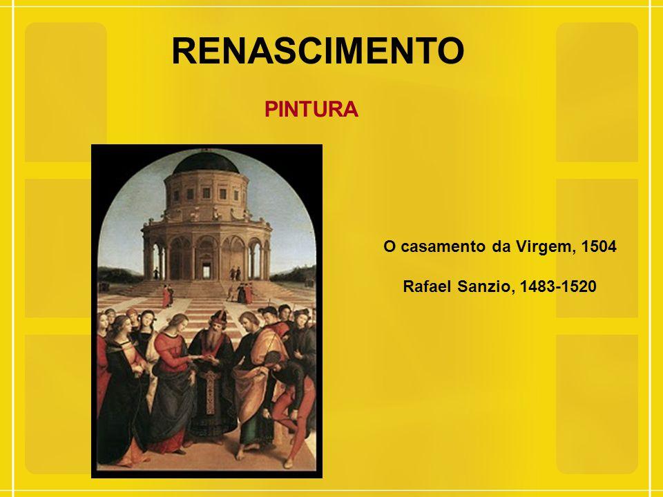 RENASCIMENTO PINTURA O casamento da Virgem, 1504 Rafael Sanzio, 1483-1520