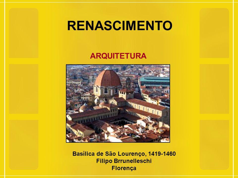 RENASCIMENTO ARQUITETURA Catedral Santa Maria Del Fiori, 1298-1436 Filippo Brunelleschi, Giotto di Bandone, Luca della Robbic, Donatello, Federico Zucarri, Gorgio Vasari,
